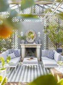 Salon de jardin modulable en tissu gris clair Acton, Gris