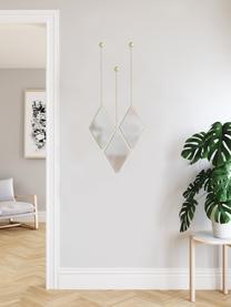 Wandspiegel-Set Dima, 3-tlg., Rahmen: Metall, beschichtet, Spiegelfläche: Spiegelglas, Goldfarben, 18 x 29 cm