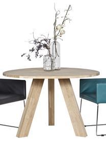 Tavolo rotondo in legno massello Rhonda, Legno di quercia, Legno di quercia, Ø 129 x Alt. 75 cm