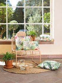 Federa arredo da esterno con stampa tropicale Kokamo, 100% Dralon® poliacrilico, Multicolore, Larg. 40 x Lung. 40 cm