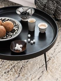 Table basse design en manguier Bowl Table, Noir