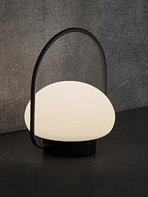 Mobile Dimmbare Außentischlampe Sponge, Lampenschirm: Kunststoff, Weiß, Schwarz, Ø 23 x H 28 cm