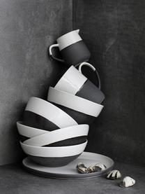 Bol bicolore fait main Esrum, Blanc ivoire, gris-brun
