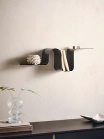 Metall-Wandregal Caterpillar in Schwarz, Metall, beschichtet, Schwarz, 64 x 19 cm