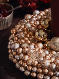 Ghirlanda di Natale Festivity, Materiale sintetico, polistirolo, Crema, dorato, Ø 33 x Alt. 7 cm