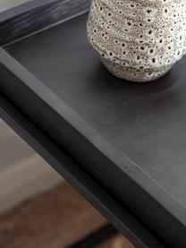 Stolik pomocniczy z drewna i metalu Forden, Blat: płyta pilśniowa średniej , Stelaż: metal lakierowany, Czarny, S 55 x W 60 cm