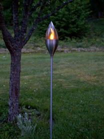 Zewnętrzna lampa solarna Olympos, Stal, transparentny, Ø 9 x W 115 cm