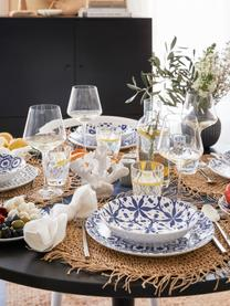 Komplet naczyń  Bodrum, 18 elem., Porcelana, Niebieski, biały, Komplet z różnymi rozmiarami