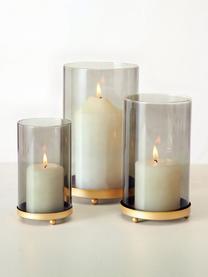 Komplet świeczników Knikki, 3 elem., Szkło lakierowane, Zielony, Komplet z różnymi rozmiarami