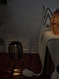 Solar Außenleuchte Treasure zum Hängen oder Stellen, Lampenschirm: Polyrattan, Schwarz, Ø 16 x H 20 cm