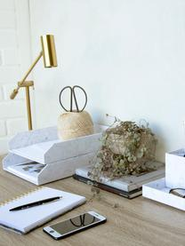 Dokumenten-Ablagen Hakan, 2 Stück, Fester, laminierter Karton, Weiß, marmoriert, B 23 x T 31 cm