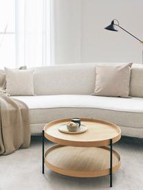 Kissenhülle Amino mit abstraktem Muster, 100% Baumwolle, Beige/Weiß, 40 x 40 cm