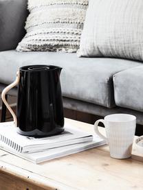 Handgemachte Tassen Copenhagen mit feinen Streifen, 6 Stück, Steingut, Elfenbein mit feinen hellbeigen Streifen, Ø 12 x H 11 cm