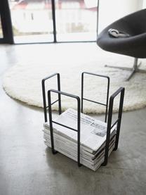 Zeitschriftenhalter Tower, Stahl, lackiert, Schwarz, 35 x 35 cm
