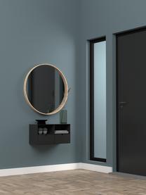 Schwarzer Wand-Nachttisch Joliet mit Schublade, Gestell: Metall, pulverbeschichtet, Schwarz, 30 x 30 cm