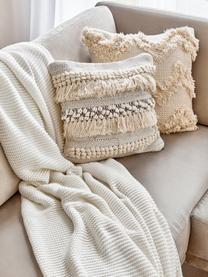 Strickdecke Adalyn aus Bio-Baumwolle in Naturweiß, 100% Bio-Baumwolle, GOTS-zertifiziert, Naturweiß, 150 x 200 cm