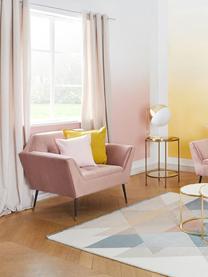 Samt-Sessel Kate in Altrosa, Bezug: Polyester (Samt), Füße: Metall, pulverbeschichtet, Samt Altrosa, B 95 x T 79 cm