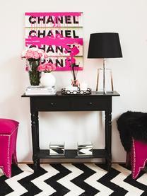 Konsola z 2 szufladami Zoe, Drewno sosnowe, lakierowane, Czarny, S 93 x G 33 cm