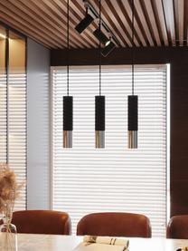 Lampa wisząca Longbot, Czarny, chrom, S 40 x W 30 cm