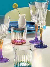 Křišťálová sklenice na sekt Gipsy, 6 ks, Transparentní, žlutá, modrá