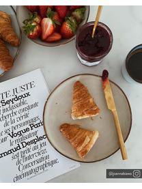 Assiette à dessert rustique en grès Thalia, 2pièces, Beige