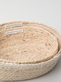 Set 2 cestini per pane fatti a mano Mais, Foglie di mais intrecciate, Beige chiaro, Set in varie misure