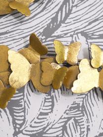 Wandobjekt Butterfly aus Metall in Antik-Optik, Metall, Goldfarben, 104 x 62 cm