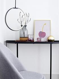 Wandtafel Harper van metaal, Gepoedercoat metaal, Zwart, B 100 x D 30 cm
