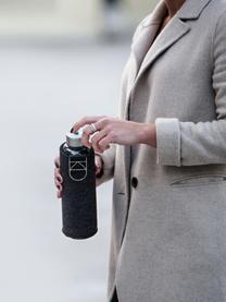 Drinkfles Mismatch, Fles: borosilicaatglas, Deksel: edelstaal, tritan (kunsts, Zwart, transparant, zilverkleurig, Ø 8 x H 26 cm