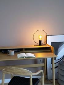 Kleine Tischlampe Pria im Industrial-Style, Lampenschirm: Metall, pulverbeschichtet, Lampenfuß: Metall, pulverbeschichtet, Schwarz, Ø 30 x H 33 cm