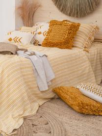 Poszewka na poduszkę Puket, Bawełna, Złamana biel, musztardowy, S 45 x D 45 cm