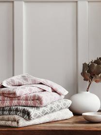 Wende-Handtuch-Set Ava mit grafischem Muster, 3-tlg., Sandfarben, Cremeweiß, Sondergrößen