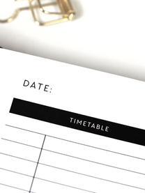 Tagesplaner Daily Planner, Papier, Schwarz, Weiß, 18 x 24 cm