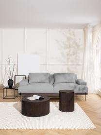 Canapé 3 places gris pieds en métal Brooks, Tissu gris