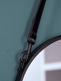 Miroir mural rond noir Liz, Noir