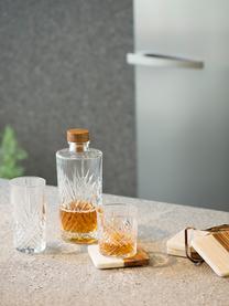 Karafka ze szkła Eugene, 900 ml, Transparentny, drewno naturalne, W 24 cm