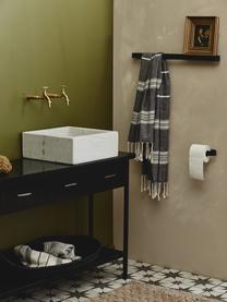 Toilettenpapierhalter Sotra, Metall, beschichtet, Schwarz, 17 x 4 cm