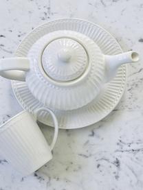 Ręcznie wykonany talerz śniadaniowy Alice, 2 szt., Kamionka, Biały, Ø 23 cm