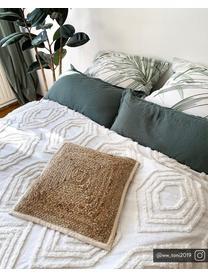 Couvre-lit avec motif tufté Faye, Blanc