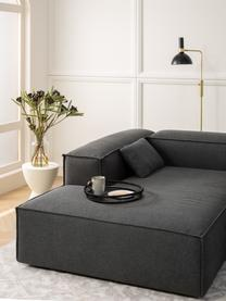 Canapé d'angle modulable anthracite Lennon, Tissu anthracite