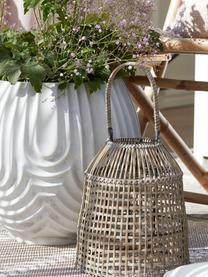 Ręcznie wykonana latarenka Hazel, Stelaż: rattan, Beżowy, Ø 30 x W 45 cm