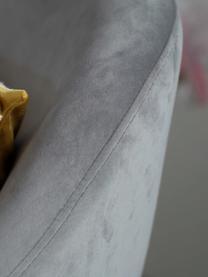 Poltrona in velluto Jana, Rivestimento: velluto (poliestere) 25.0, Gambe: metallo verniciato, Velluto grigio, Larg. 72 x Prof. 68 cm