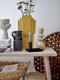 Kerzenhalter Emie aus Steingut, Steingut, Orange, Gelb, Ø 8 x H 19 cm