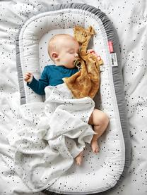 Babynest Dreamy Dots, Bezug: 100% Baumwolle, Oeko-Tex-, Matratze: 100% PU-Schaumstoff, Grau, 50 x 93 cm