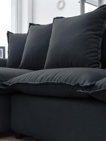 Sofa narożna z funkcją spania i miejscem do przechowywania Mona, Tapicerka: 100% poliester, wodoodpor, Stelaż: drewno naturalne, płyta w, Nogi: tworzywo sztuczne, Antracytowy, S 230 x G 170 cm