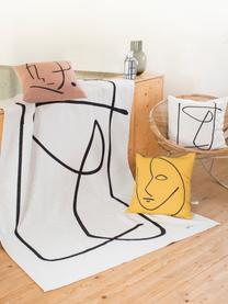 Housse de coussin 50x50 Nova Abstract, Blanc, noir