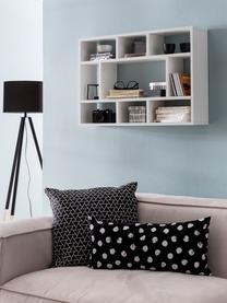 Libreria a muro in bianco opaco Alek, Truciolato, melaminico, Bianco, Larg. 75 x Alt. 51 cm