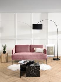 Sofa z aksamitu z metalowymi nogami Fluente (2-osobowa), Tapicerka: aksamit (wysokiej jakości, Nogi: metal malowany proszkowo, Aksamitny blady różowy, S 166 x G 85 cm