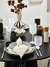 Weingläser Oslo, 6er Set, Glas, Weiß, Schwarz, Rosa, Ø 8 x H 21 cm