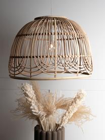 Lampada a sospensione in rattan Bali, Paralume: rattan, Baldacchino: metallo rivestito, Rattan, Ø 35 x Alt. 24 cm